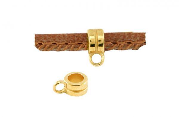 Ring mit Öse, 4mm, 1 Stück gold