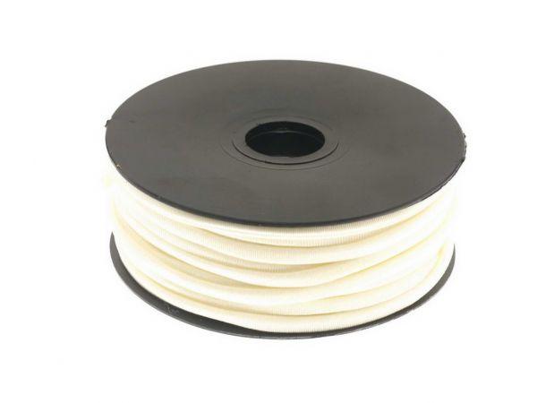 Stretchband gefüttert 5mm Poly/Elastan 1,00m Zuschnitt weiss