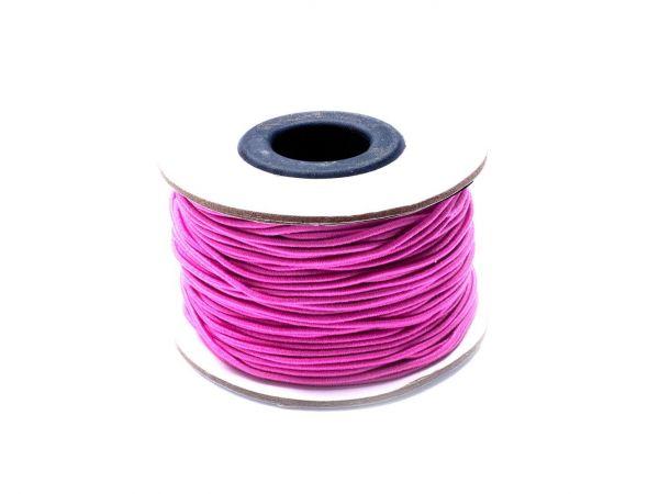 Gummischnur, ca. 1,5mm dick, 45m Rolle, rosa