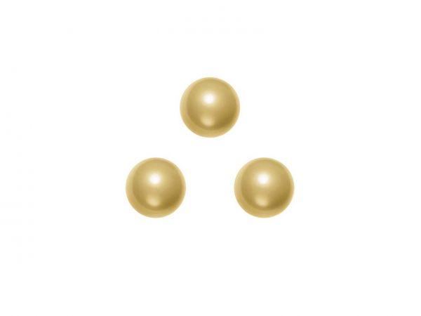 Swarovski crystal pearl 6mm, 40, vintage gold