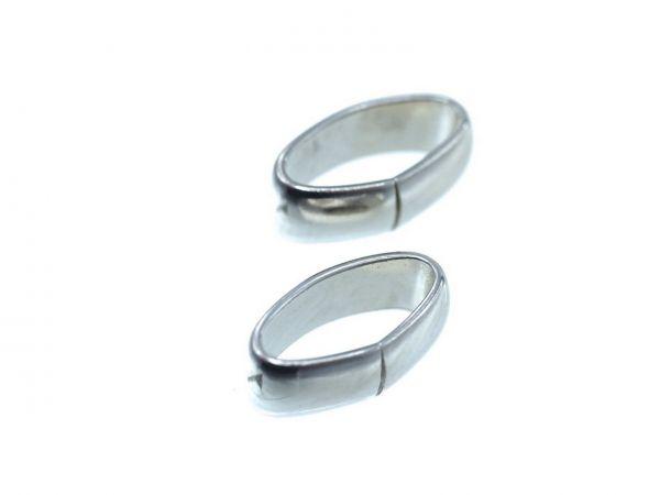Spacer, high quality, oval ca. 12x5mm Innendurchmesser ca.9x4mm, rhodium