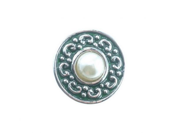 Click-it Button, Perle, 18 mm, grün