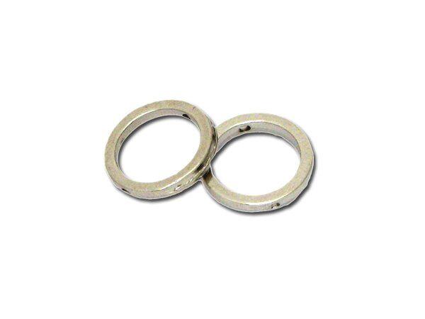 Metallzierteil rund 12mm, rhodiumfarbig 25 Stück