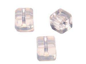 Crystal-Würfel, preiswerte Qualität, 4mm Strang , ca. 80 Stck , moonstone imit.