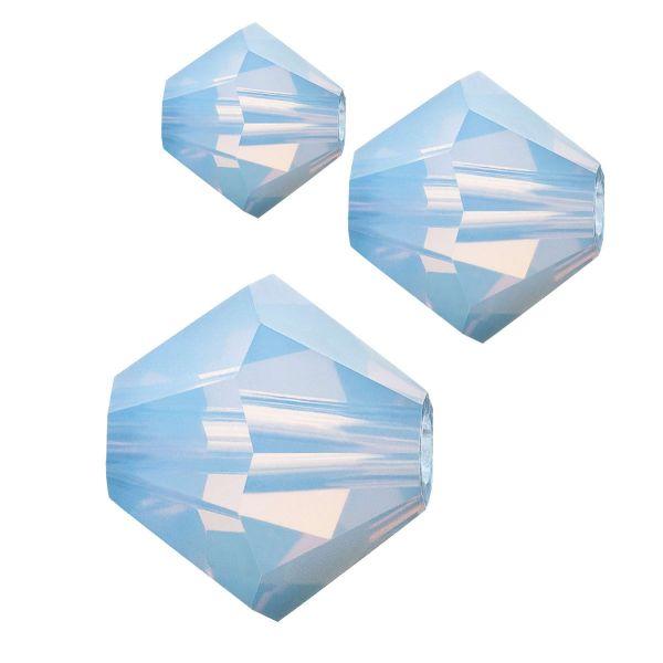 Preciosa Kristall Doppelkegel 4mm 50St., light sapphire opal