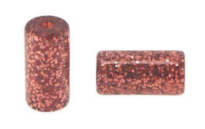 Röhrchen 8x15mm, 25Stück, Polaris Glitter bordeaux