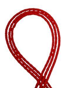 Lederschnur geflochten, 4,0mm, Rolle 24m, rot