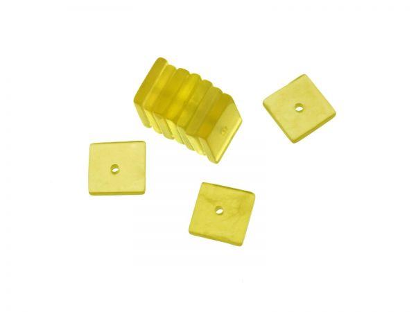Serpentin Quadrat ca. 8x8mm, ca.1,5mm dick, Bohrung ca.0,6mm, Packung 10 Stück