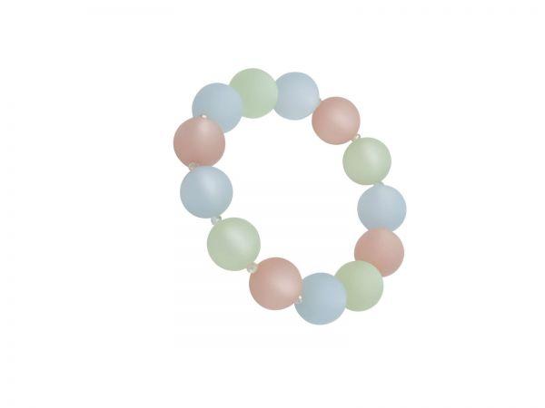 Polarisperlen Armband elastisch rose/blau/peridot