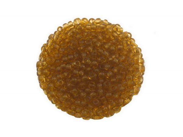 Rocailles, 9-0, 2.6mm, 50gr. Beutel, transparent goldgelb