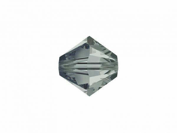Swarovskiperle, Doppelkegel, konisch, 5328, 8mm, 10 Stück, black diamond