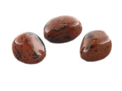 Nugett 10-20mm, Strang ca. 40 cm,Mahogany Obsidian