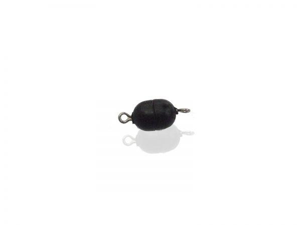 Magnetverschluss Mini-Powerclip DE, 8x6mm, 3 Stück, schwarz matt