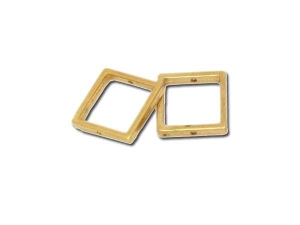 Metallzierteill quadrat ca.16mm, goldfarbig
