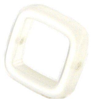 Solaris kristall Quadrat 18mm weiss
