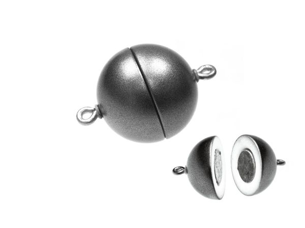 Magnetverschluss Powerclip DE, rund 12mm, granit