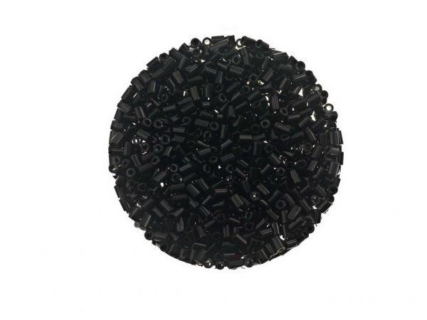 Glasstäbchen 2mm 14g Döschen schwarz