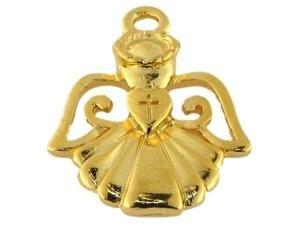50 Stück Metallzierteil Engel ca.23mm, gold