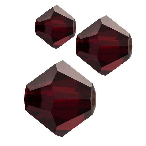 Preciosa Kristall Doppelkegel 4mm 50St., garnet