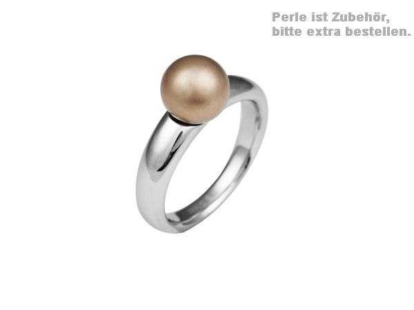 Edelstahl Wechselring für Perlen #56