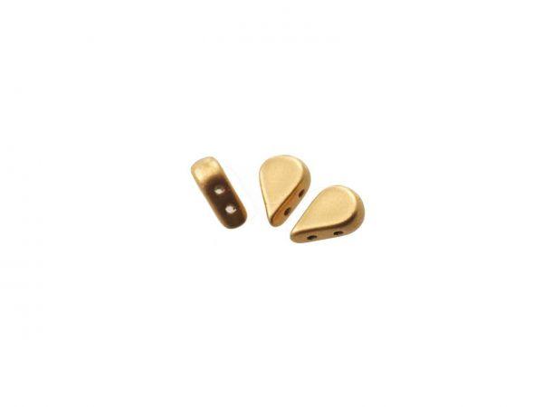 AMOS® PAR PUCA® Glasperlen, 2 Bohrungen, 5 X 8 MM 10gr., light gold mat