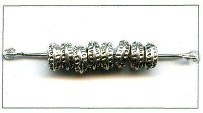 Metallzierteil antiksilber zierteil 6mm