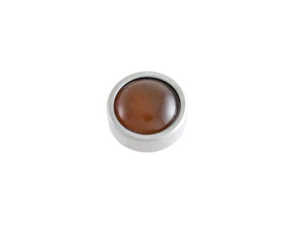 RingIT Zubehör Top versilbert 12mm mit Perle Tigerauge