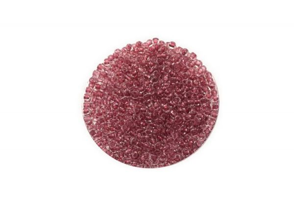Toho Rocailles 11-0, ca. 2,1mm, 14g, TR1015 Crystal Plum-Lined