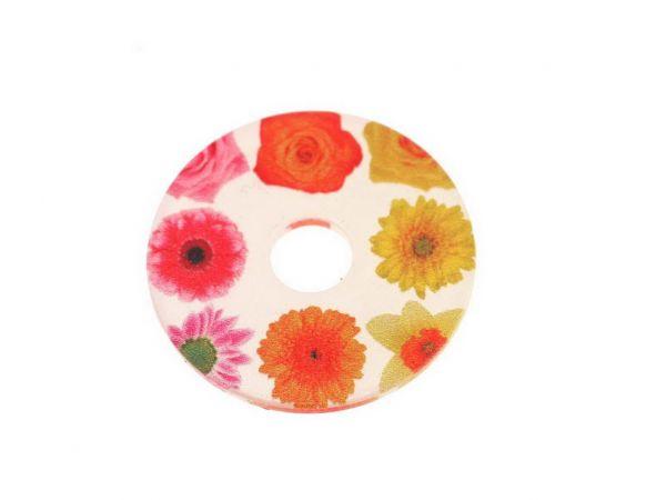 """RingIT Zubehör Acryl-Motivscheibe30 mm """"Flower"""""""""""
