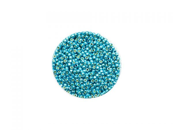 Toho Rocailles 11-0, 2,2mm, metallic, permanent finish,10g Arctic Blue PF582