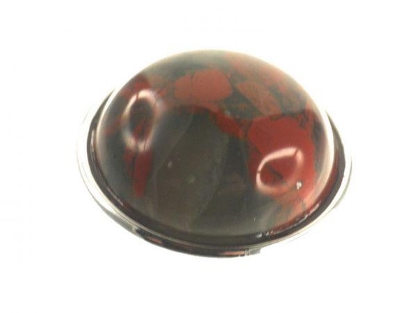 Click-it Button Stone Imit., 18 mm, red Jasper