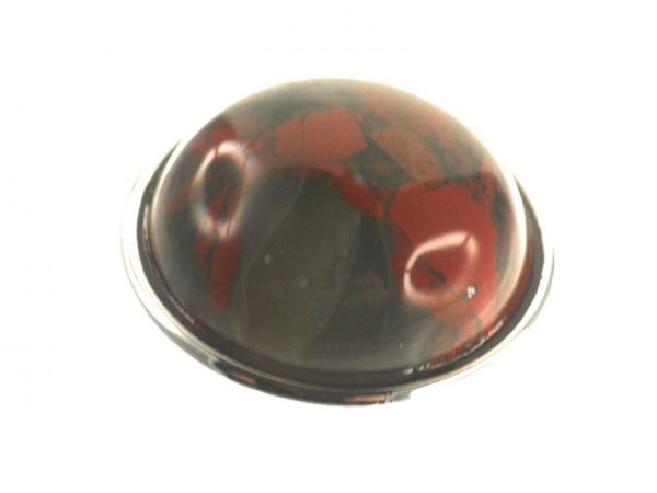 Click-it Button Stone Imit., 18 mm, red Jasper
