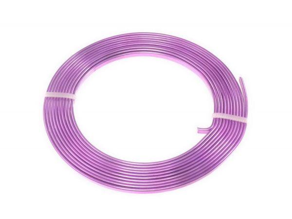 Aluminium Draht flach, 3 mm, 2,00 m, lila