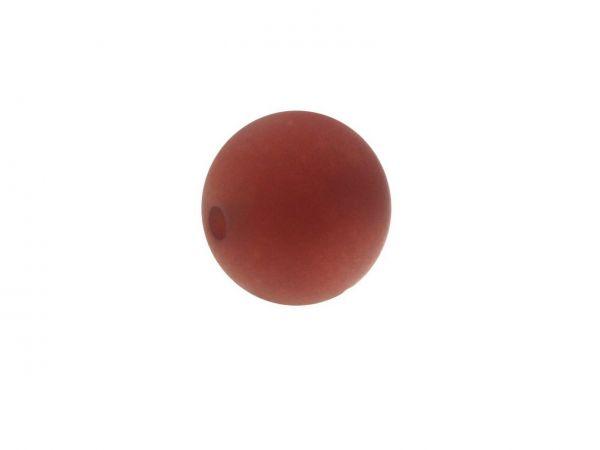 Polarisperle 8mm matt, Herbstfarben, marsala