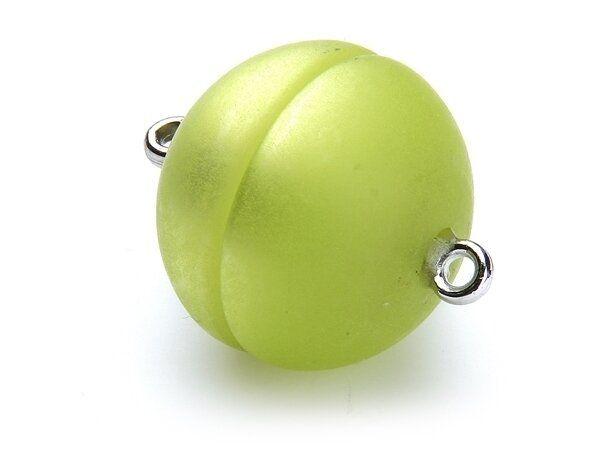 Polaris Magnetverschluß 14mm rund matt apfelgrün