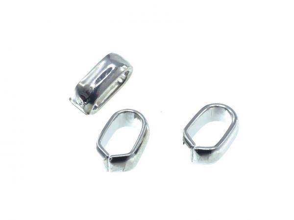 Spacer, high quality, oval ca. 8x5,5mm Innendurchmesser ca.6x4mm, rhodium