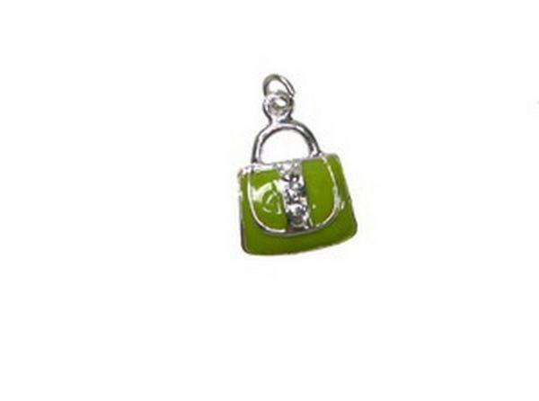 Anhänger Handtasche 13x18mm olive