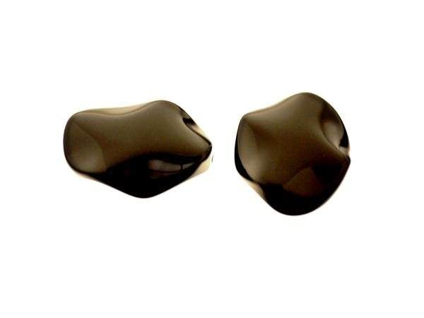 Onyx Anhänger Blatt 25mm