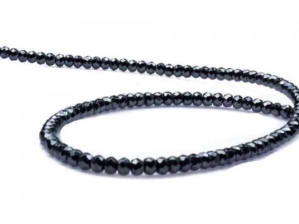 4mm Perle facettiert, Hämatit glänzend, ca.130Stck.