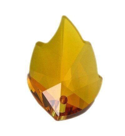 Swarovski Leaf Pendant 26x16mm topaz