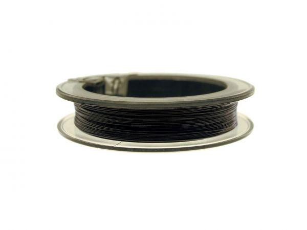 0,36mm Jewelry-Wire schwarz 49 Stränge 25 m Rolle