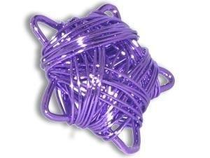 10 Stück Metallzierteil Drahtstern 25mm, lila