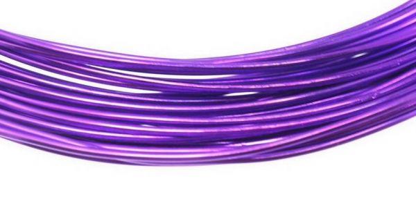 Aluminium Draht, 1mm, 10,00 m, lila
