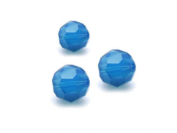 Swarovskiperle 5000, rund, 6mm, 10 Stück, caribbean blue opal