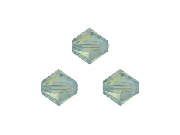 Swarovskiperlen, Doppelkegel, konisch, 5328, 3mm pacific opal