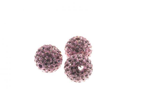 Diamond Strassperle, 12mm, Bohrung 2mm, light amethyst