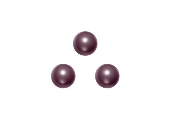 Swarovski crystal pearl 6mm, 40, burgundy