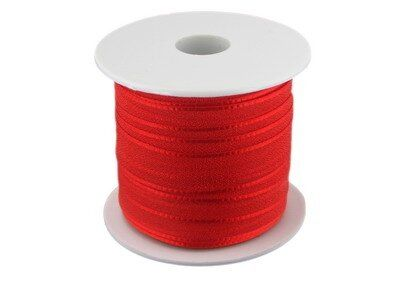 Organzaband, 10mm, 25 m Rolle, rot