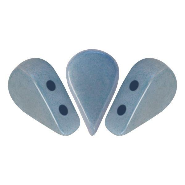 AMOS® PAR PUCA® 5x8mm 10gr. Glasperlen 2 Bohrungen, opaque blue ceramic look