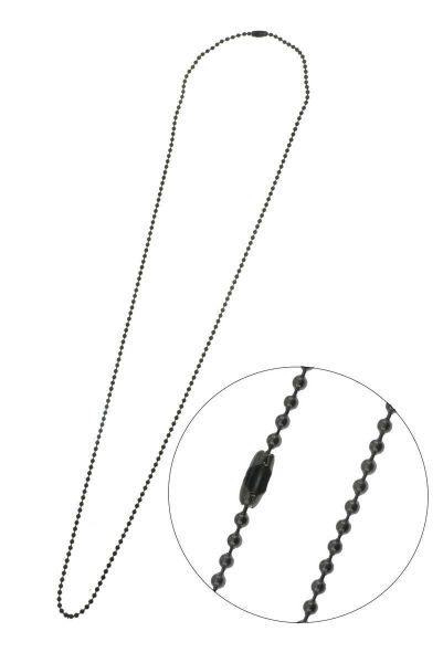 Edelstahl Kugelkette 1,5mm, ca. 75cm lang, anthrazit